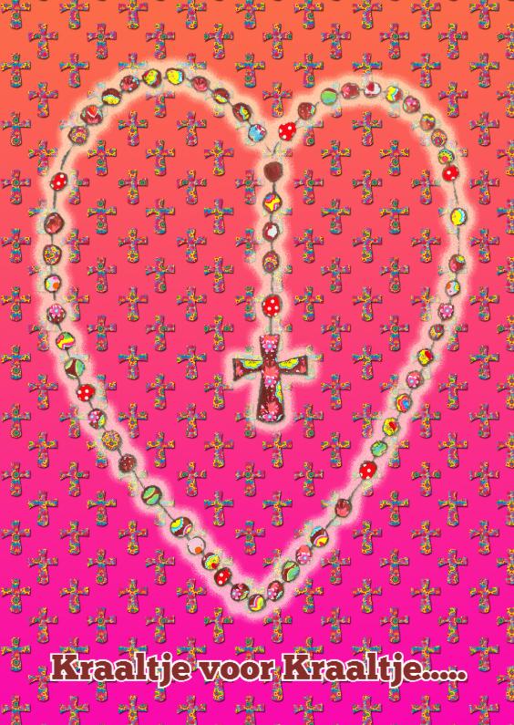 Religie kaarten - Religiekaart Rozenkrans PA