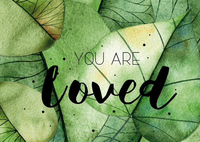 Religie kaarten - Religiekaartje: You are loved!