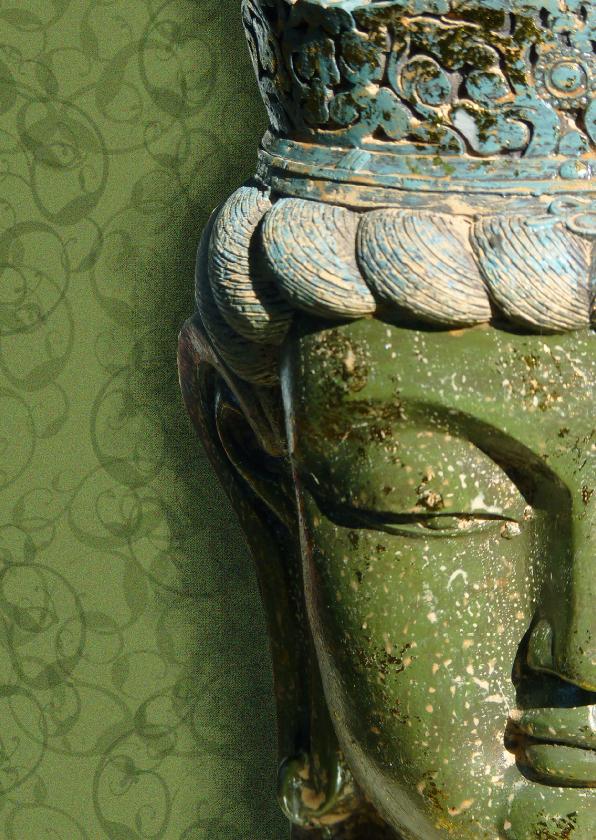 Religie kaarten - Spirituele kaart Boeddha groen