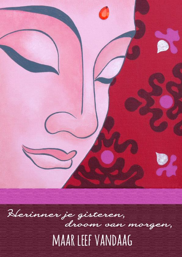 Religie kaarten - Spirituele kaart Boeddha leef vandaag