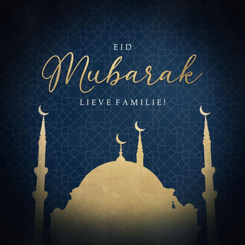 Religie kaarten - Stijlvolle religiekaart moskee Eid Mubarak offerfeest
