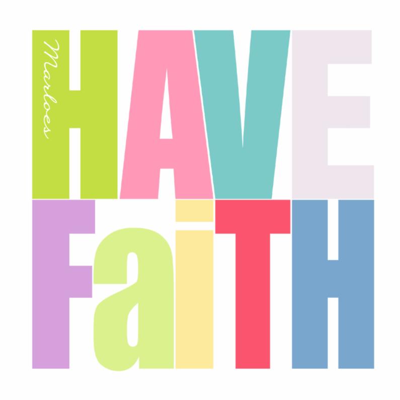 Religie kaarten - Woorden Have Faith -BK