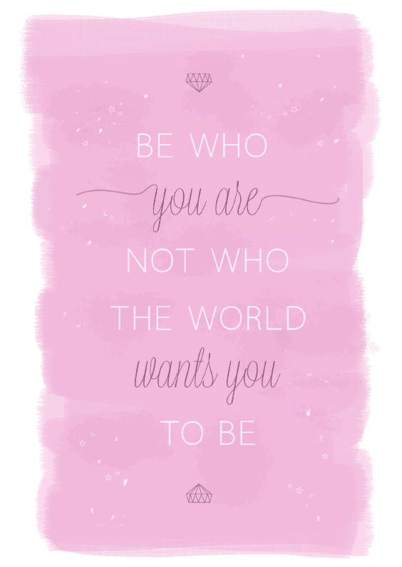 Spreukenkaarten - Be who you are not who...