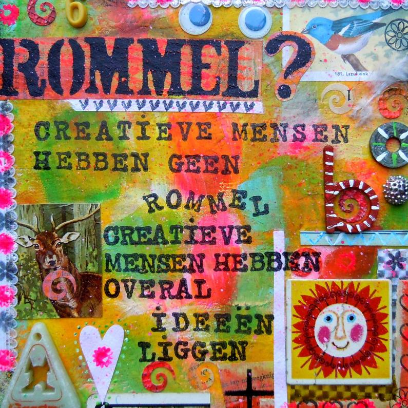 Spreukenkaarten - Creatieve mensen hebben geen rommel