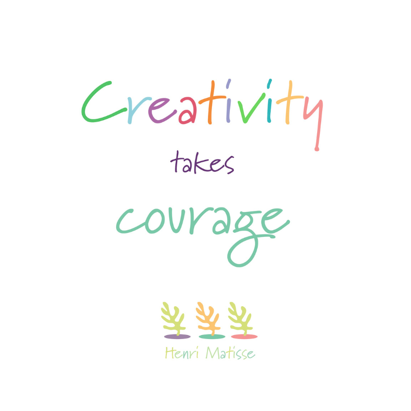 Spreukenkaarten - Creativity takes Courage - 4knt