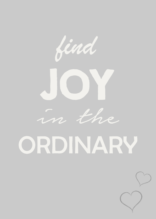 Coachingskaarten - Joy in the ordinary
