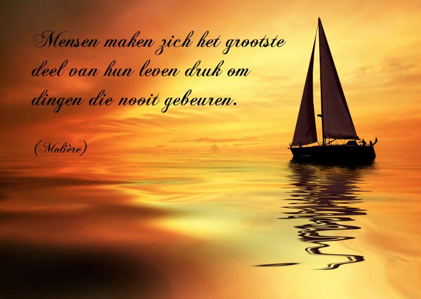 Citaten Boeddha : Kaart met mooie spreuk boot spreukenkaarten kaartje go