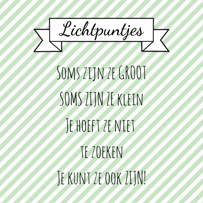 """Spreukenkaarten - Kaartje """"Lichtpuntjes"""" - WW"""