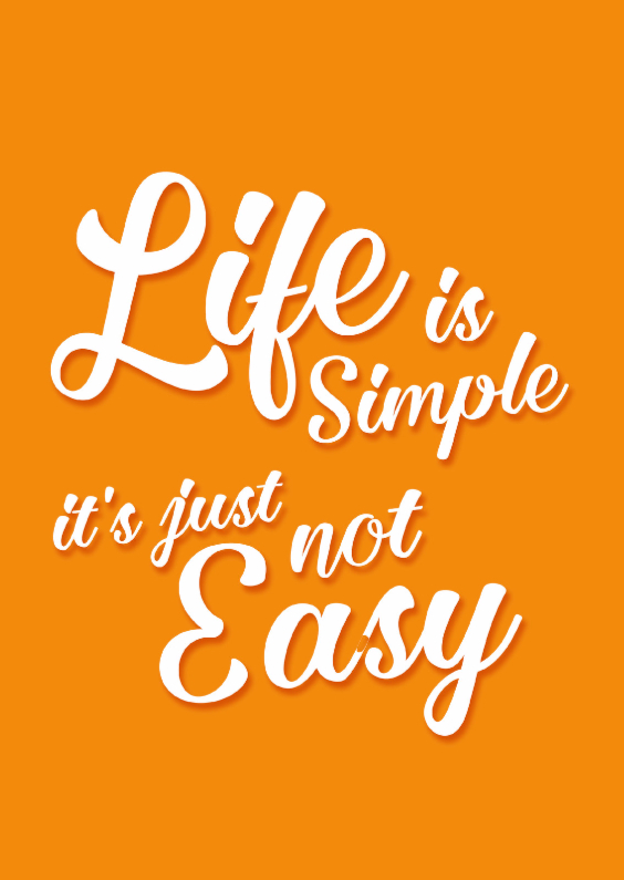 Spreukenkaarten - Life is simple- DH