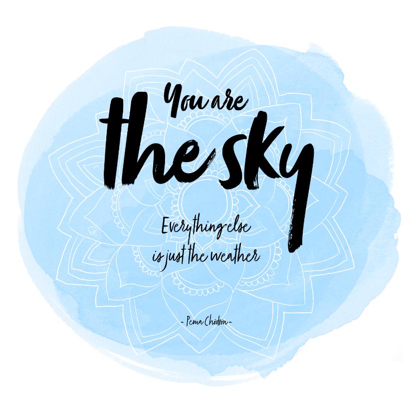 Spreukenkaarten - Spreukenkaart The sky