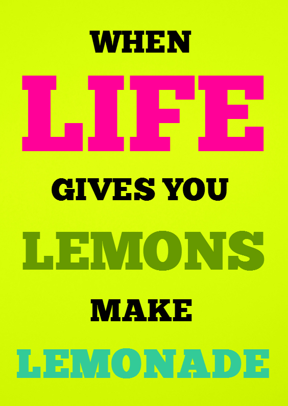 Spreukenkaarten - When life gives you lemons - SK