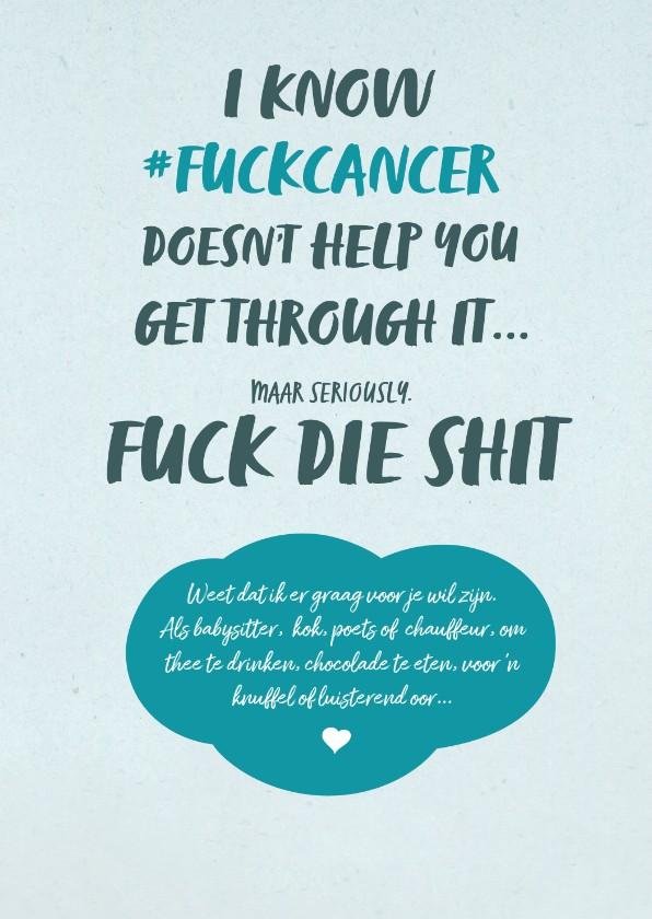 Sterkte kaarten - F*ck Kanker