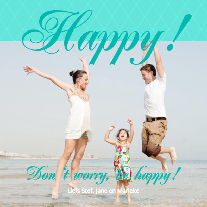 Sterkte kaarten - Foto 4kant Happy! - BK