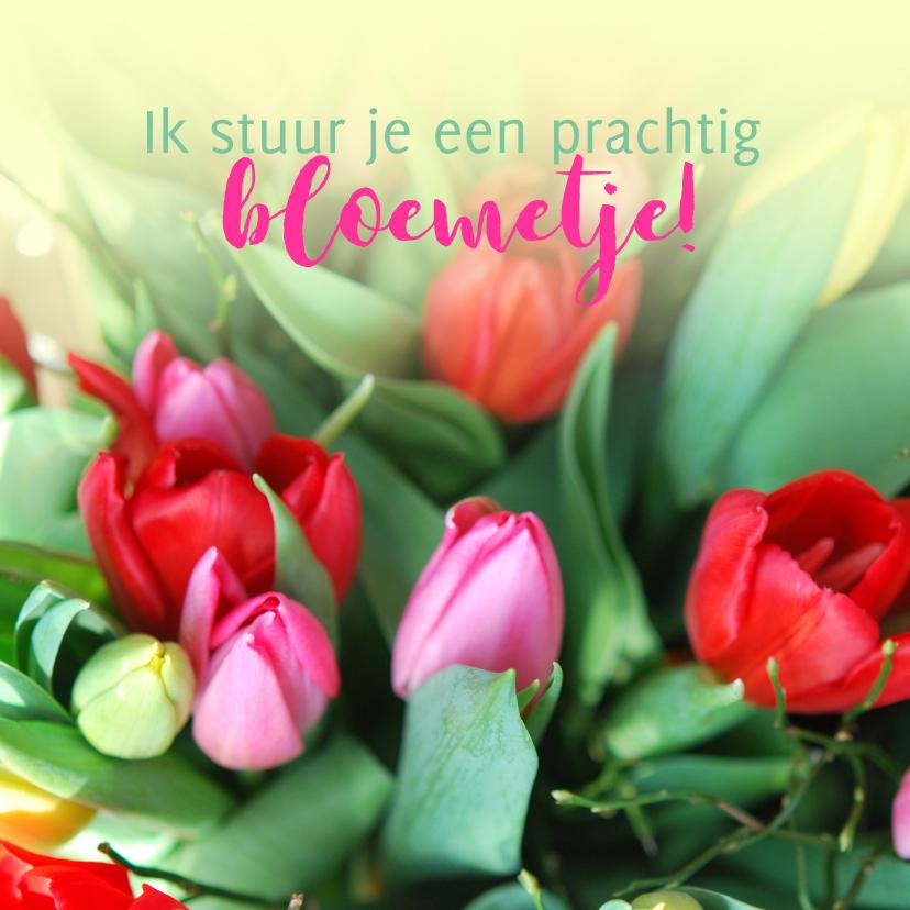 Sterkte kaarten - Fotokaart tulpen kleurrijk