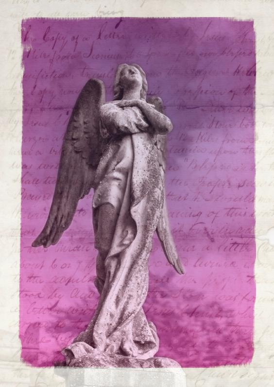 Sterkte kaarten - Handschrift met engel - BK