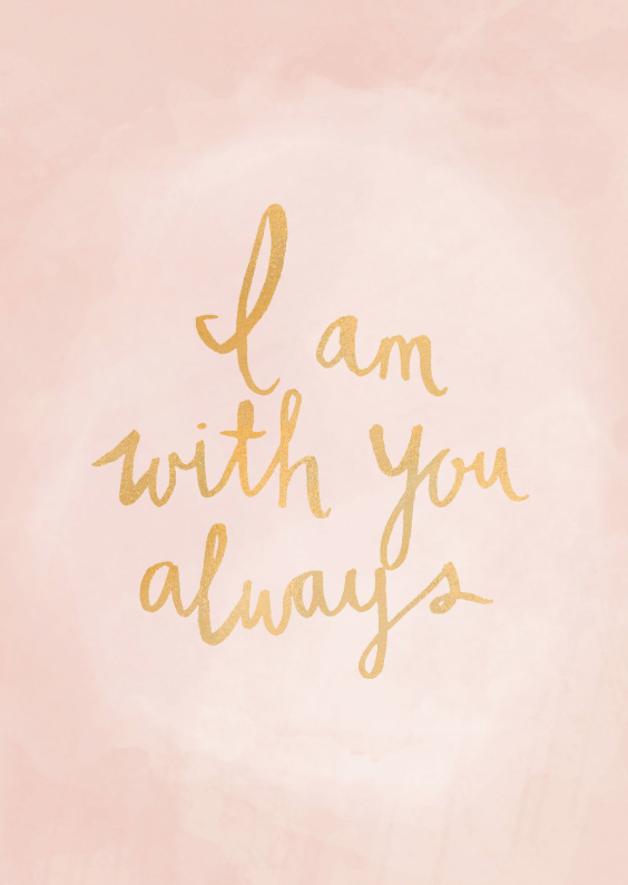 Sterkte kaarten - Kaart I am with you always