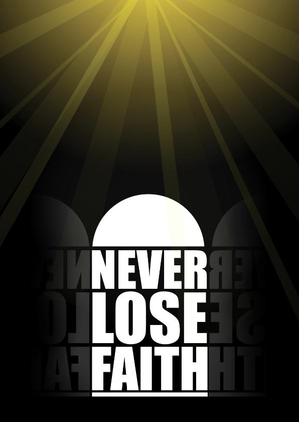 Sterkte kaarten - Never lose faith - tessArt