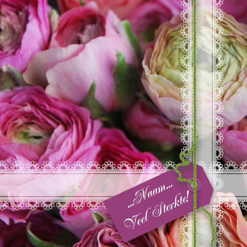 Sterkte kaarten - Ranonkel lila groen paars roze