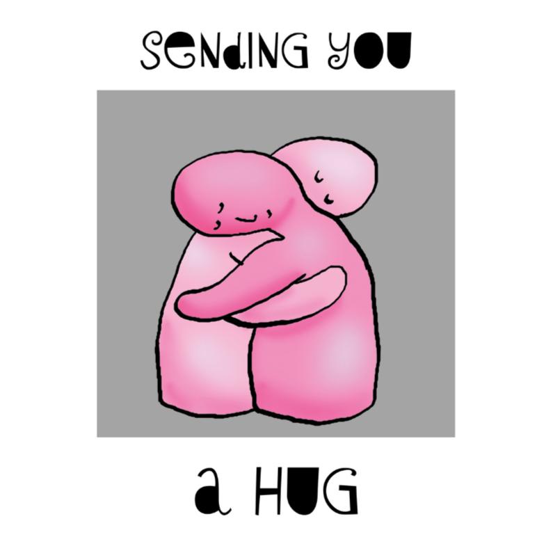 Sterkte kaarten - Sending you a hug - knuffel