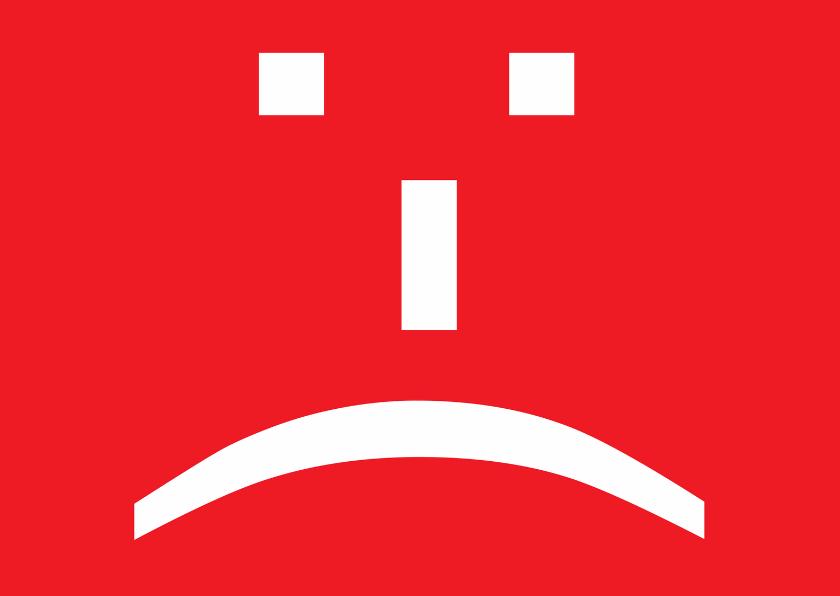 Sterkte kaarten - Smileykaart Ontevreden