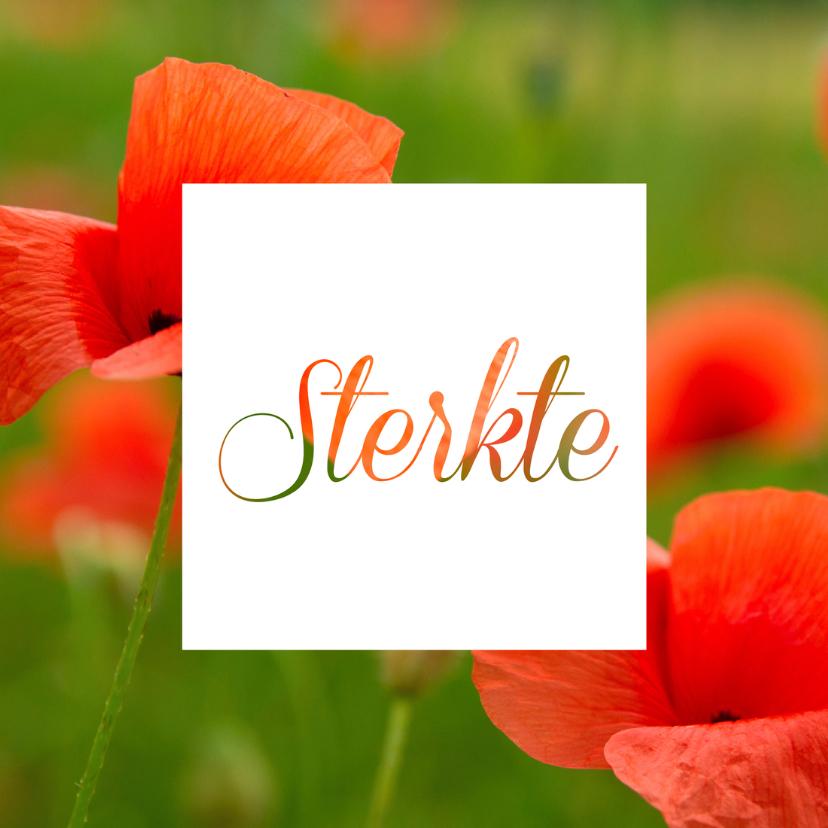 Sterkte kaarten - sterkte bloemenfoto