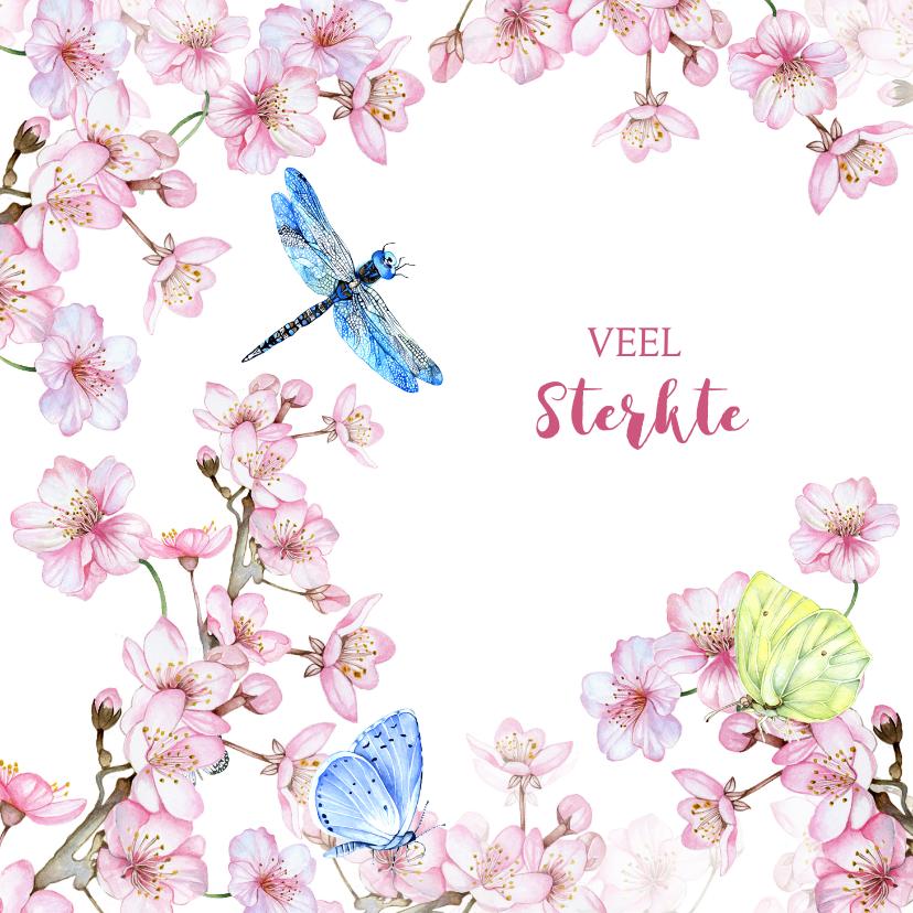 Sterkte kaarten - Sterkte bloesem vlinders