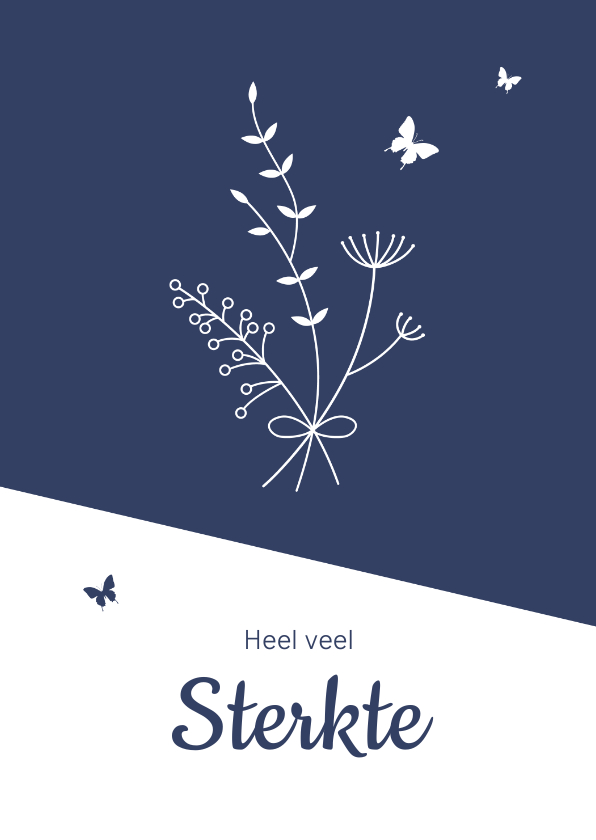 Sterkte kaarten - Sterkte - Boeket met vlinders