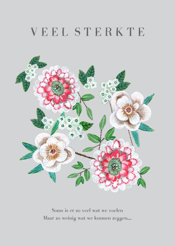 Sterkte kaarten - Sterkte en Medeleven botanische bloemen