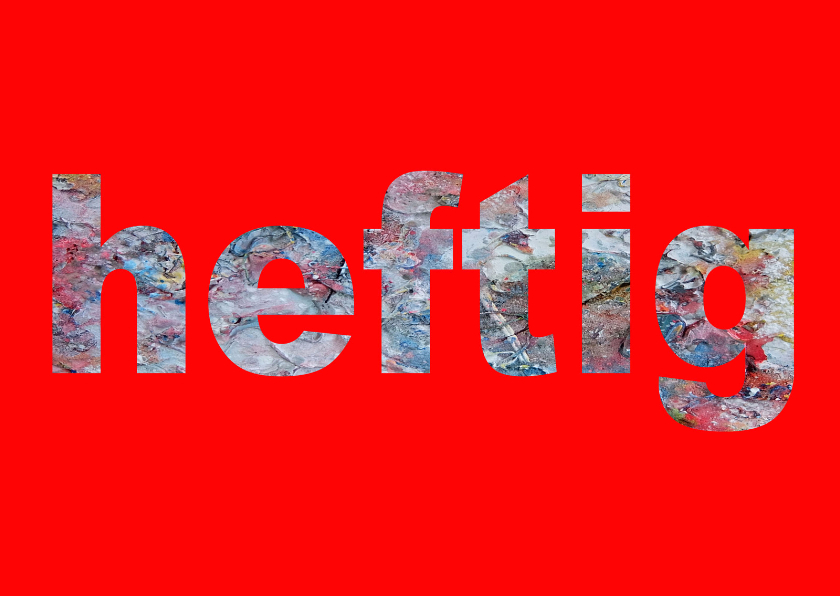 Sterkte kaarten - Sterkte Heftig rood - AW