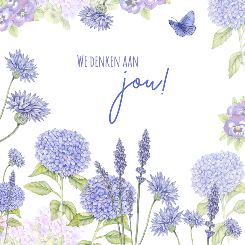 Sterkte kaarten - Sterkte hortensia blauw