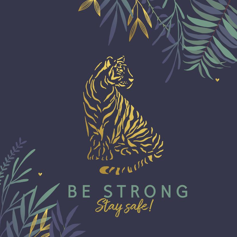 Sterkte kaarten - Sterkte kaart met stoere tijger