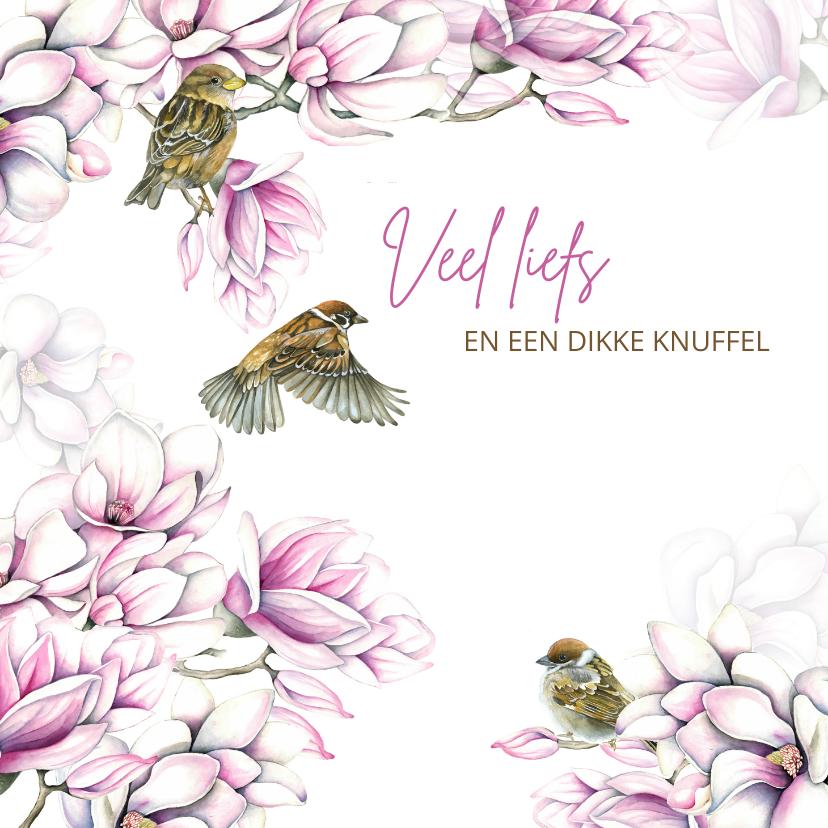 Sterkte kaarten - Sterkte magnolia vogeltjes