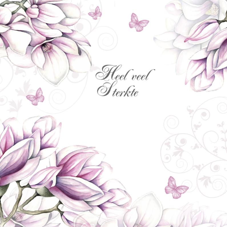 Sterkte kaarten - sterkte met magnolia