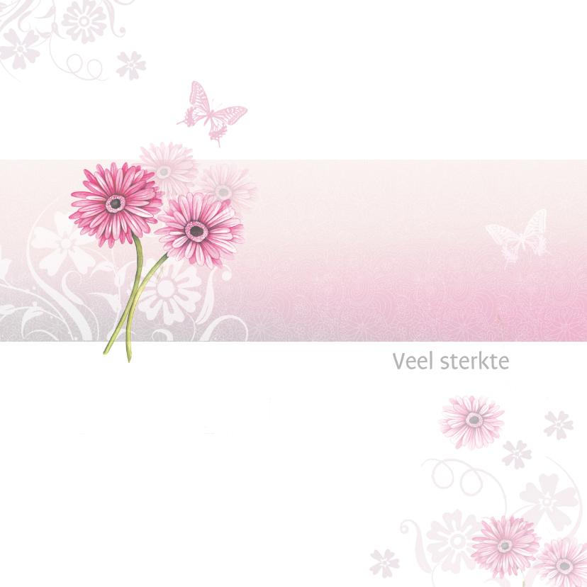 Sterkte kaarten - Sterkte roze gerbera