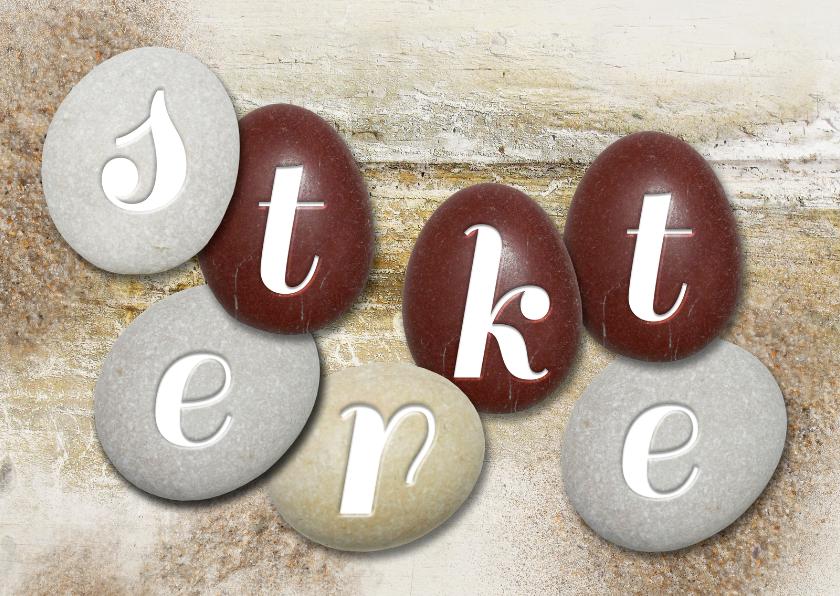 Sterkte kaarten - Sterkte stenen op hout - SG