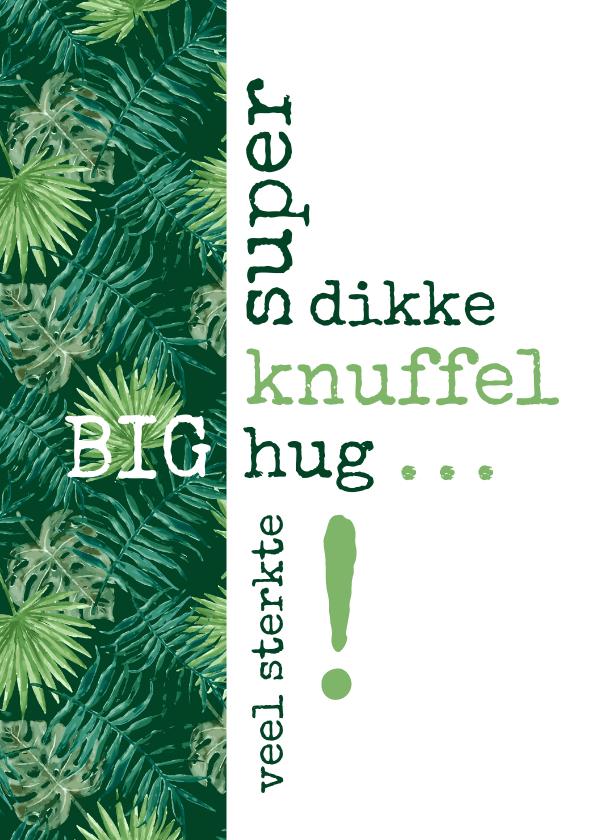 Sterkte kaarten - Sterkte Typografisch met botanische print