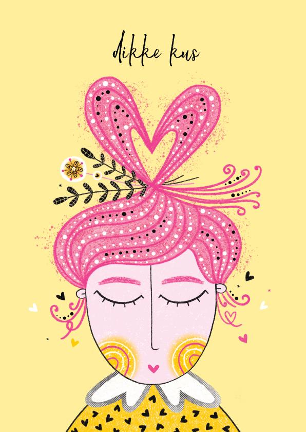 Sterkte kaarten - Sterktekaart dame hart van haar