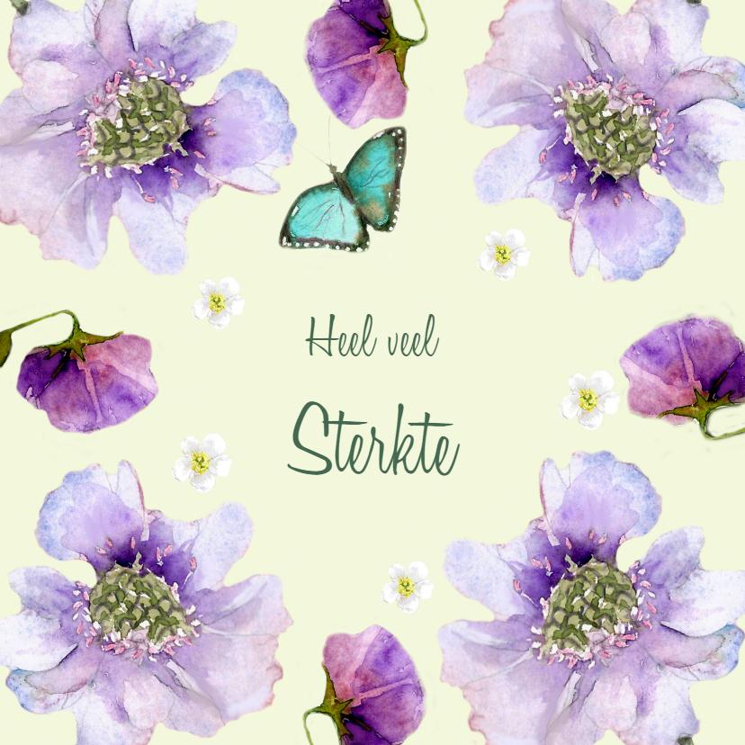 Sterkte kaarten - Sterktekaart Paarse bloemen