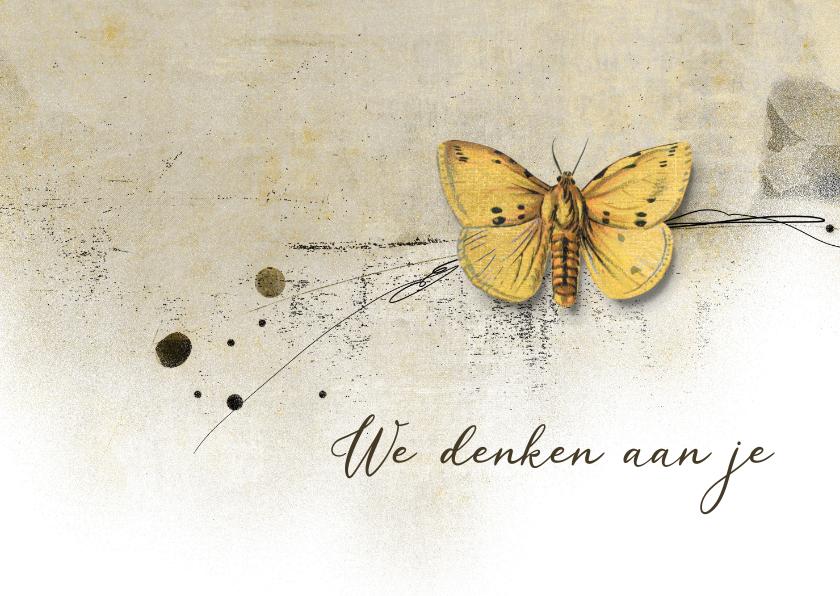 Sterkte kaarten - Sterktekaart yellow butterfly