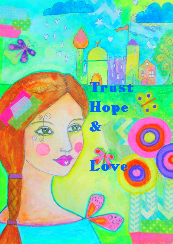 Sterkte kaarten - Trust hope and love