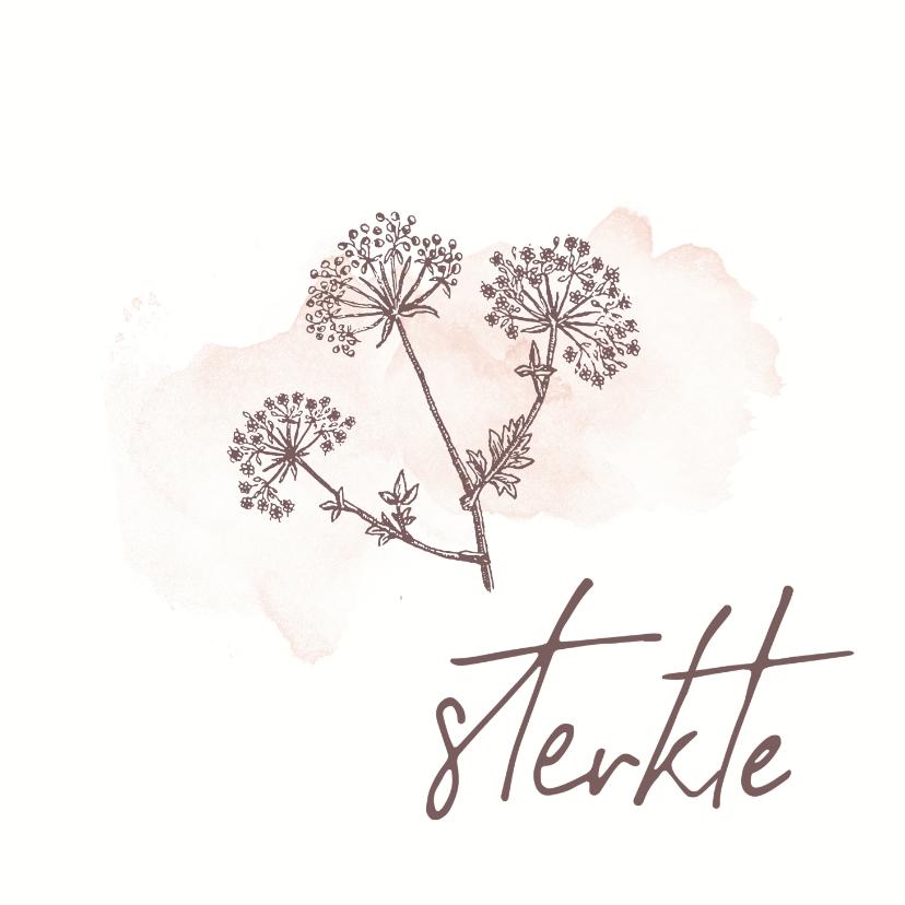 Sterkte kaarten - Veel sterkte - bloemen waterverf