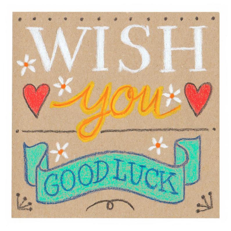 Sterkte kaarten - Wenskaart Wish you good luck