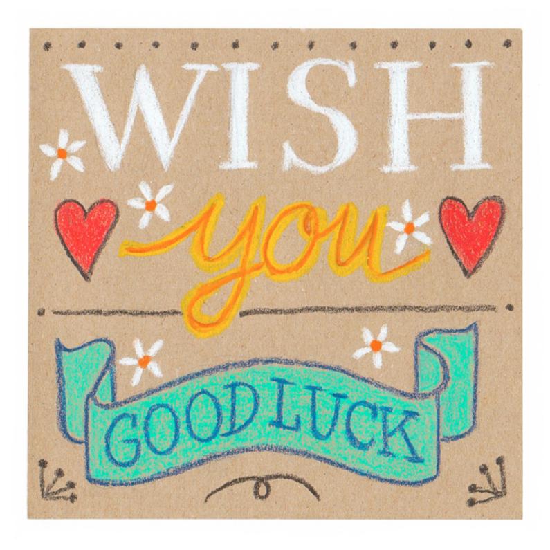 Sterkte kaarten - Wish you good luck, wenskaart