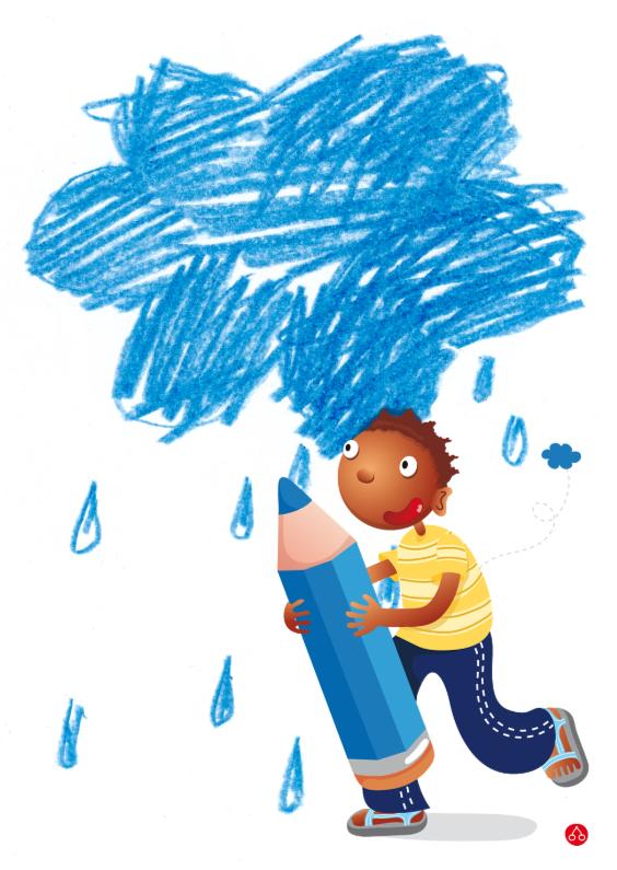 Sterkte kaarten - Wolkje met regen