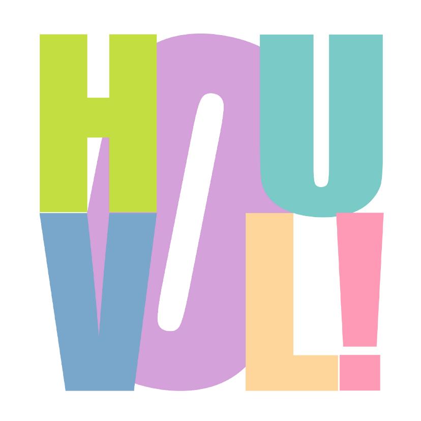 Sterkte kaarten - Woorden Hou Vol! Kleurrijk