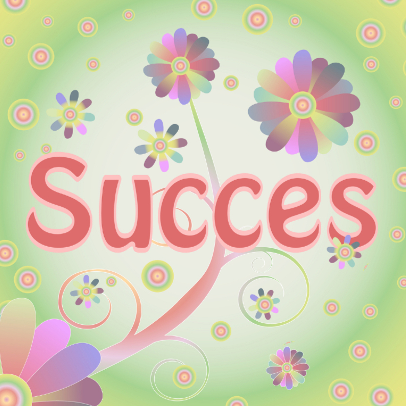 Succes kaarten - flowerpower-succes