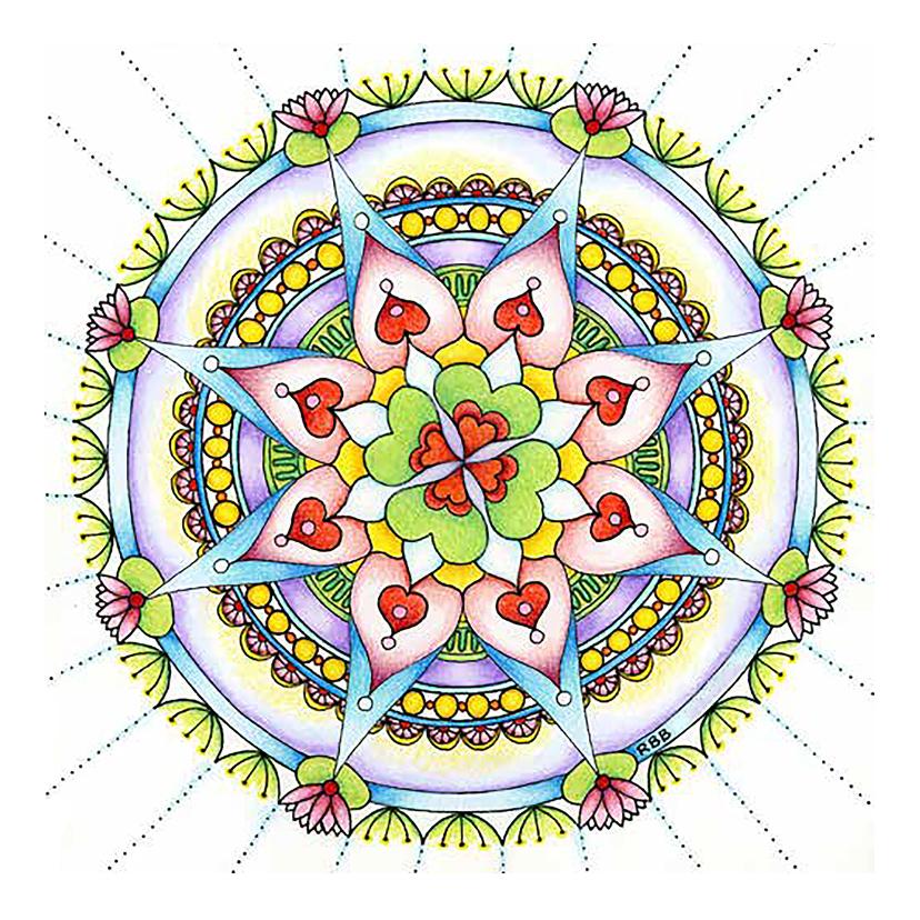 Succes kaarten - Mandala kaart Veel Geluk