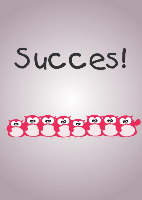 Succes kaarten - Mo Card Uiltjes sterkte van ons allemaal