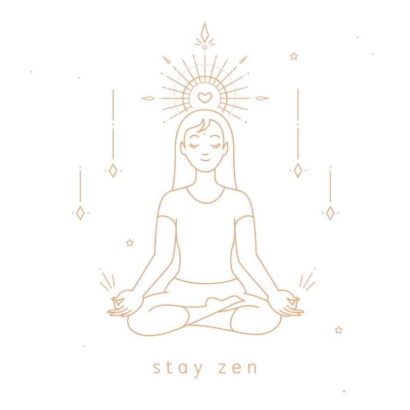 Succes kaarten - Stay zen succes kaart