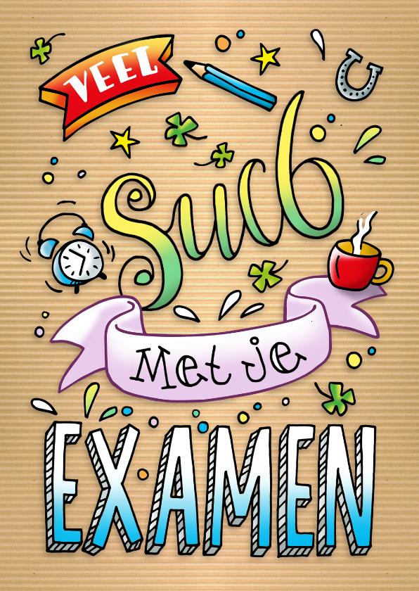 Succes kaarten - Succes Examen lettering